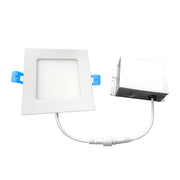 6 Inch Square Slim LED Downlight, 12W, 120V, 900 Lumens, 3000K, 4000K, 5000K  - Image #2