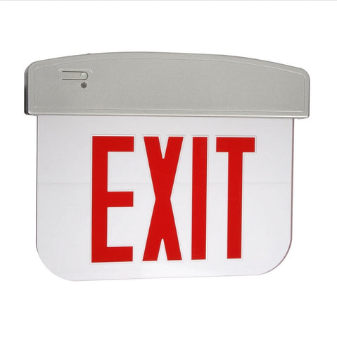 Edge Lit Exit Sign (Red, Single)