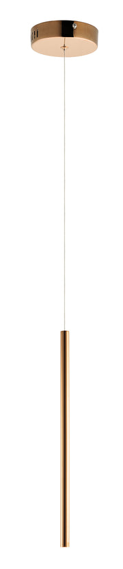 Flute LED 1-Light Pendant E10002-RG   - Image #1