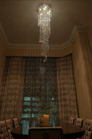Cascada 9-Light Flush Mount E20797-20 Single-Tier Chandelier  - Image #2