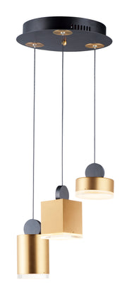 Nob LED 3-Light Pendant E20863-75BKGLD   - Image #1
