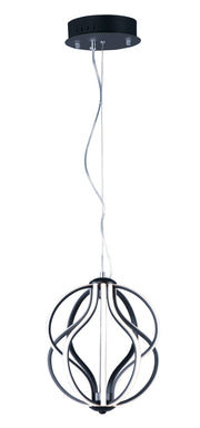 Aura LED 10-Light Pendant E21172-BK Single-Tier Chandelier  - Image #1
