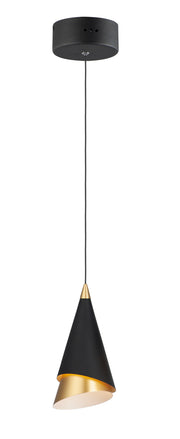 Mermaid LED 1-Light Pendant E21441-BKMG Single Pendant  - Image #1