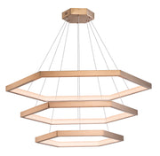 Hex LED Pendant E22288-BCN Suspension Chandelier  - Image #1