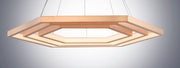 Hex LED Pendant E22288-BCN Suspension Chandelier  - Image #3