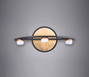 Button 3-Light LED Wall Sconce E23161-75BKGLD Wall Sconce  - Image #2