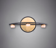 Button 3-Light LED Wall Sconce E23161-75BKGLD Wall Sconce  - Image #3