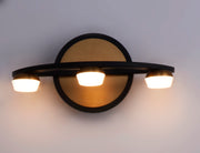 Button 3-Light LED Wall Sconce E23161-75BKGLD Wall Sconce  - Image #4