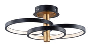 Hoopla LED Semi Flush Mount E24323-BKGLD   - Image #1
