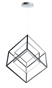 4 Square 2-Light LED Pendant E30586-BKPC Chandelier  - Image #1