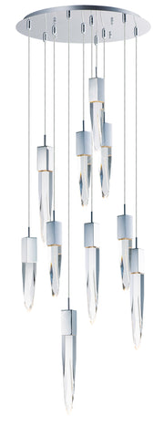 Quartz LED 10-Light Pendant E31247-20PC Chandelier  - Image #1