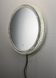 LED Crystal Round Mirror E42004-20 Decor  - Image #2