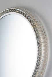 LED Crystal Round Mirror E42004-20 Decor  - Image #4