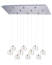 Starburst 10-Light RapidJack Pendant and Canopy E93972-24SN   - Image #1