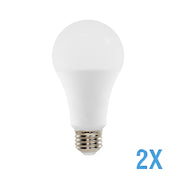 A21 LED 14W Watt Light Bulbs 120V 100W Comparable 2 Value Pack