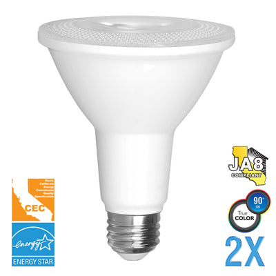 PAR30 LED 10W Watt Light Bulb 120V 75W Comparable  (Value 2 Pack)