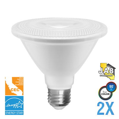 PAR30 LED 12W Watt Light Bulb 120V 75W Comparable  (Value 2 Pack)