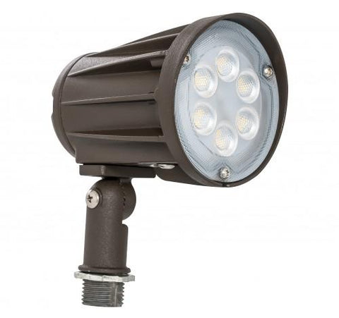 LED Bullet Flood Light, 15 watt, 120-277V, Trunnion or Knuckle Mount