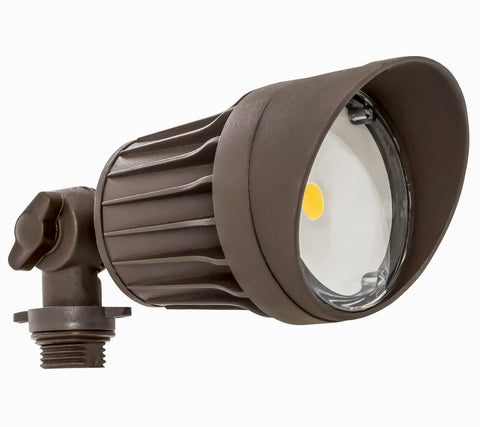 Weatherproof LED Round Flood Head, 10 watt, 120V