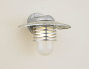 Hi-Lite Layered Vapor Tight Jar Half Sconce - Galvanized/Large (shown with frosted glass and shade)