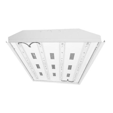 LED Low Bay Lighting Fixture, 46 Watt, 120-277V, 6720 Lumen, 3500K, 4000K or 5000K