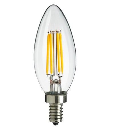 Filament Candle LED 4 watt Bulb (JA8), 120V