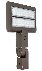 LED Flood Light, 80W, 120-277V, Slip Fitter Mount  - Image #1