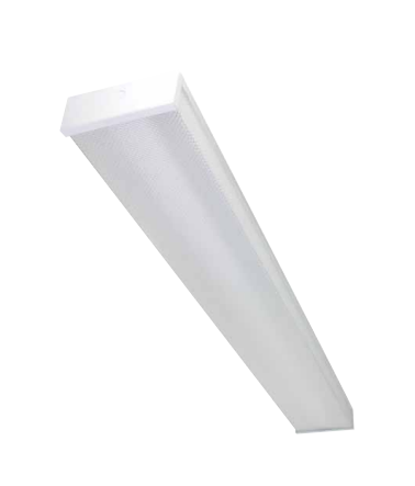 4 Foot LED Wrap Fixture for 2 Single End LED T8 Lamps