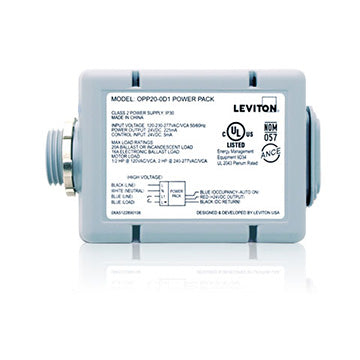 20A Standard Power Pack for Occupancy Sensors, features include Auto ON, Latching Relay, Color: Gray