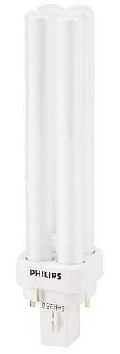 Philips-PL-C 18W/27 4P 18 Watt Long Twin-Tube Compact Fluorescent Light Bulb, 2700K (10 pack)  - Image #1