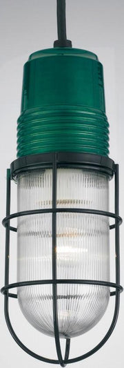 PW1 Series Ceiling Hung Vapor Jar, Trans. Green Finish w/ Prismatic Glass