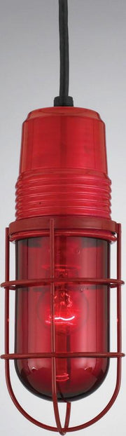 PW1 Series Ceiling Hung Vapor Jar, Trans. Red Finish w/ Red Glass