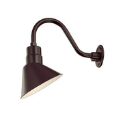 "Millennium Lighting RLM Angle Shade - Architectural Bronze (Shown with 14.5"" Goose Neck)  - Image #2"