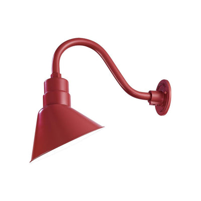 "Millennium Lighting RLM Angle Shade - Satin Red (Shown with 14.5"" Goose Neck)"