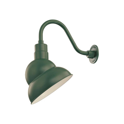 "Millennium Lighting RLM Emblem Shade - Satin Green (Shown with 14.5"" Goose Neck)"