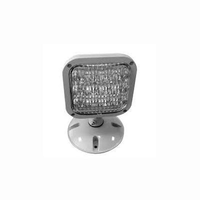 Single LED Remote Outdoor Rated Emergency Head for Remote Capable LED Exit/Emergency Combo Units, 9.6V