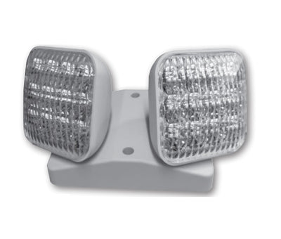 2 Head, Indoor Rated LED Emergency Head, 9.6V