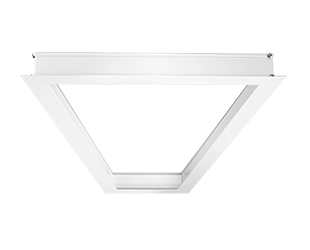 1x4 Recessed Mounting Kit for LED Panels, white