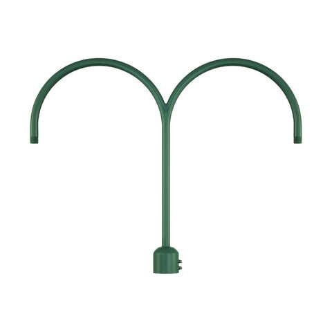 Millennium Lighting Two Light Post Adapter,  Satin Green Finish