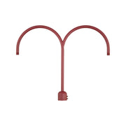 Millennium Lighting Two Light Post Adapter Satin Red Finish