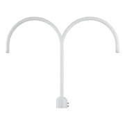 Millennium Lighting Two Light Post Adapter White Finish  - Image #1