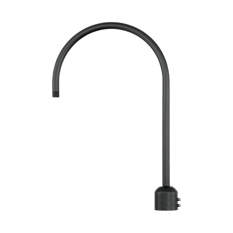 Millennium Lighting Single Light Post Adapter,  Satin Black Finish