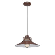 "Millennium Lighting 18"" RLM/ Cord Hung Railroad Shade - Architectural Bronze"