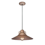 "Millennium Lighting 18"" RLM/ Cord Hung Railroad Shade - Copper"