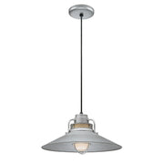 "Millennium Lighting 18"" RLM/ Cord Hung Railroad Shade - Galvanized"