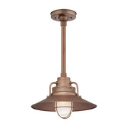 "Millennium Lighting 14"" RLM/ Stem Hung Railroad Shade - Copper (Shown with canopy kit and 12"" stem)"