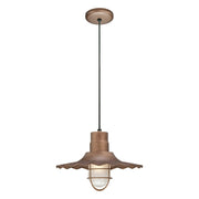 "Millennium Lighting 15"" RLM/ Cord Hung Radial Wave Shade - Copper  - Image #2"