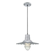 "Millennium Lighting 15"" RLM/ Cord Hung Radial Wave Shade - Galvanized  - Image #3"