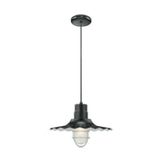 "Millennium Lighting 15"" RLM/ Cord Hung Radial Wave Shade - Satin Black  - Image #7"