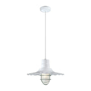 "Millennium Lighting 15"" RLM/ Cord Hung Radial Wave Shade - White  - Image #6"